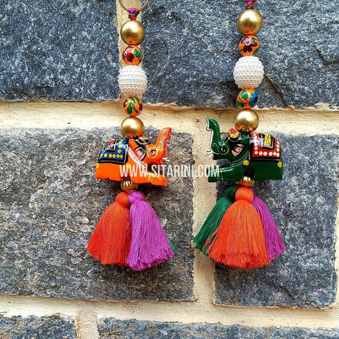 Handmade Tassels / Latkans for Lehenga - Set of 2 - Sitarini - TAS109