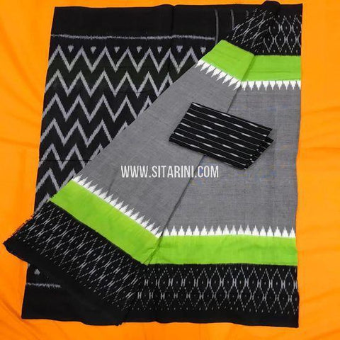 Ikat Cotton Saree-Multicolor-Sitarini-SITICS378