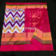 Ikat Pattu Saree-Multicolor-Sitarini-SITIPS808