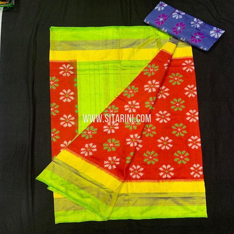 Ikat Pattu Saree-Red-Sitarini-SITIPS951