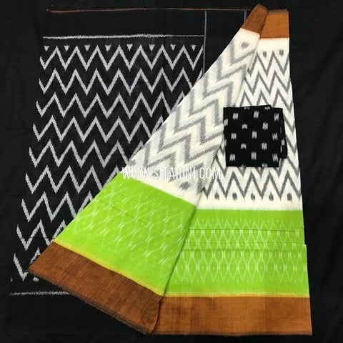 Ikat Saree-Cotton-Multicolor-Sitarini-SITICS386