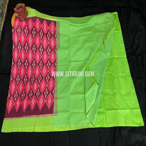 Ikat Saree-Cotton-Multicolor-Sitarini-SITICS420