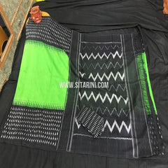 Ikat Saree-Cotton-Multicolor-Sitarini-SITICS442