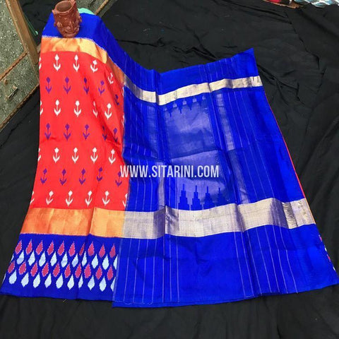 Ikat Saree-Silk-Red-Sitarini-SITIPS870