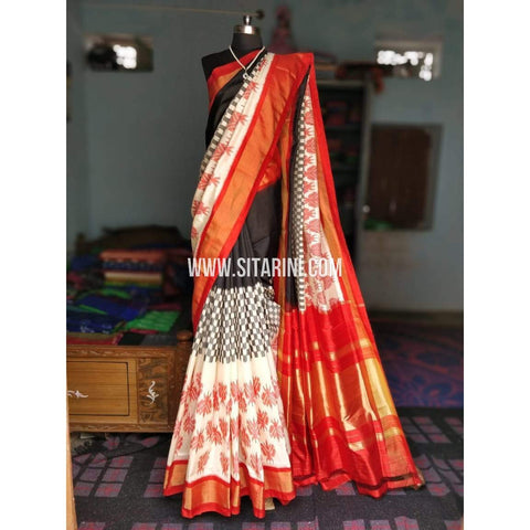 Ikat Sarees-Silk-Multicolor-PRHIPS177