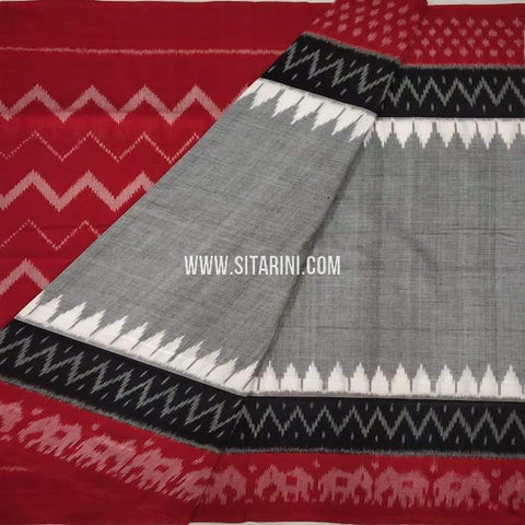 Ikkat Cotton saree-Multicolor-Sitarini-SITICS198