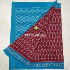 Ikkat Cotton saree-Multicolor-Sitarini-SITICS224