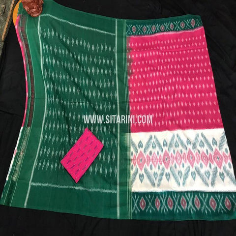 Ikkat Cotton Saree-Multicolor-Sitarini-SITICS435