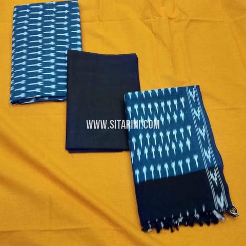 Ikkat Dress Material-Cotton(3pcs)-Sitarini-SITICDM231
