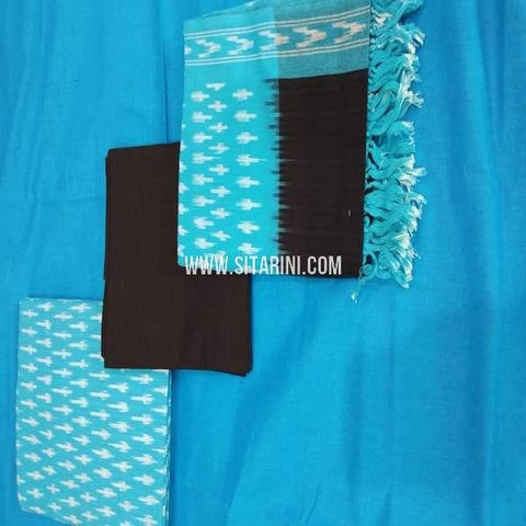 Ikkat Dress Material-Cotton(3pcs)-Sitarini-SITICDM263