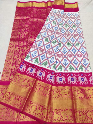 Ikkat Kanchi Saree-Pattu-Multi-Colour-Sitarini-SITIKS289