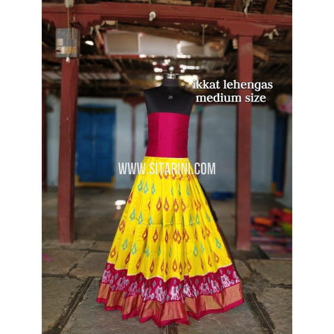 Ikkat Lehenga For Kids-Pattu-Multicolor-3 to 8 Years-Sitarini-SITMIL202