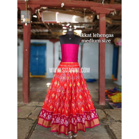 Ikkat Lehenga For Kids-Pattu-Multicolor-3 to 8 Years-Sitarini-SITMIL204