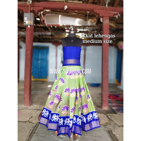 Ikkat Lehenga For Kids-Pattu-Multicolor-3 to 8 Years-Sitarini-SITMIL215