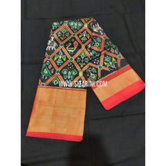 Ikkat Pattu Langa Voni-Black and Dark Pink-Sitarini-PPBIPLE101
