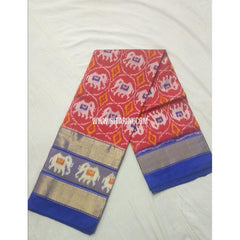 Ikkat Pattu Lehanga-Maroon and Royal Blue-Sitarini-PSHIPL164
