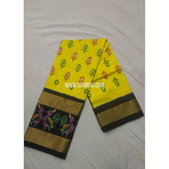 Ikkat Pattu Lehanga-Yellow and Black-Sitarini-PSHIPL168