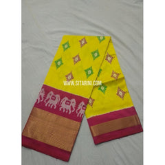 Ikkat Pattu Lehanga-Yellow and Magenta-Sitarini-PSHIPL162