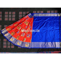 Ikkat Pattu Lehenga-3 to 8 years old-Sitarini-PRHIPL179