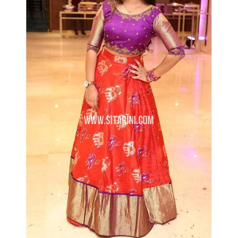 Ikkat Pattu Lehenga-Red and Purple-Sitarini-PRHIPL241