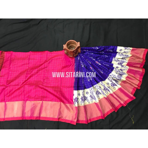 Ikkat Pattu Lehengas-Multicolour-0 to 3 Years-PGMHIPLK242