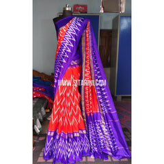Ikkat Pattu Light Weight Sarees-Red-Sitarini-PRHIPS212