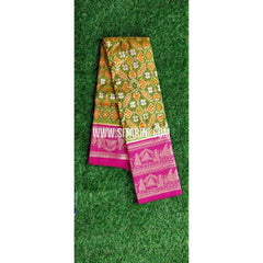 Ikkat Pattu Saree-Green and Magenta-PRHIKPS103