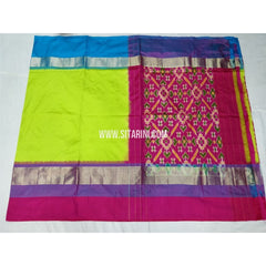 Ikkat Pattu Saree-Lemon Yellow and Magenta-Sitarini-PSHIPS292