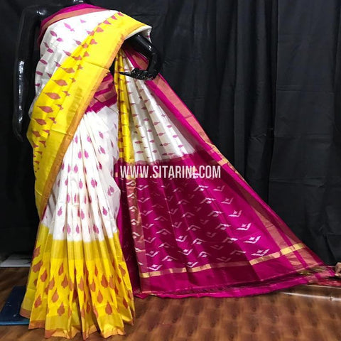 Ikkat Pattu Saree-Multicolor-Sitarini-SITIPS596
