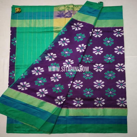 Ikkat Pattu Saree-Multicolor-Sitarini-SITIPS626
