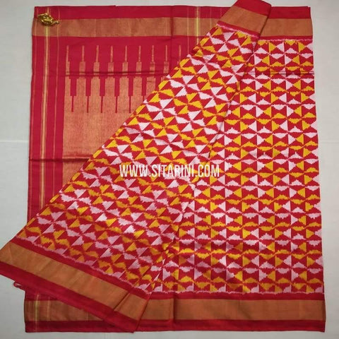 Ikkat Pattu Saree-Multicolor-Sitarini-SITIPS629