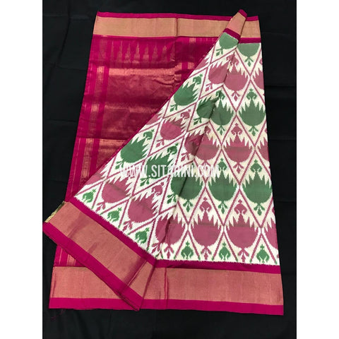 Ikkat Pattu Saree-Multicolour-Sitarini-PGMHIPS257