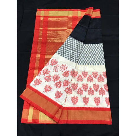 Ikkat Pattu Saree-Multicolour-Sitarini-PGMHIPS265