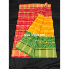 Ikkat Pattu Saree-Multicolour-Sitarini-SITIPS182