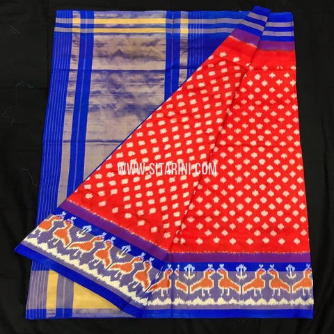 Ikkat pattu Saree-Red-Sitarini-SITIPS556