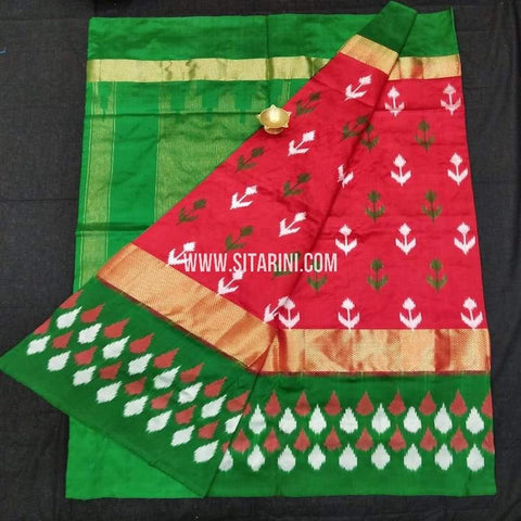 Ikkat Pattu Saree-Red-Sitarini-SITIPS591