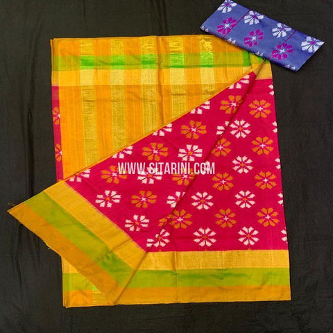 Ikkat Pattu Saree-Red-Sitarini-SITIPS952