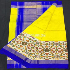 Ikkat pattu Saree-Yellow-Sitarini-SITIPS568