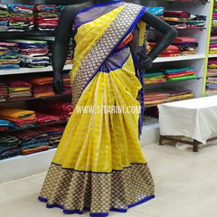 Ikkat Pattu Saree-Yellow-Sitarini-SITIPS651