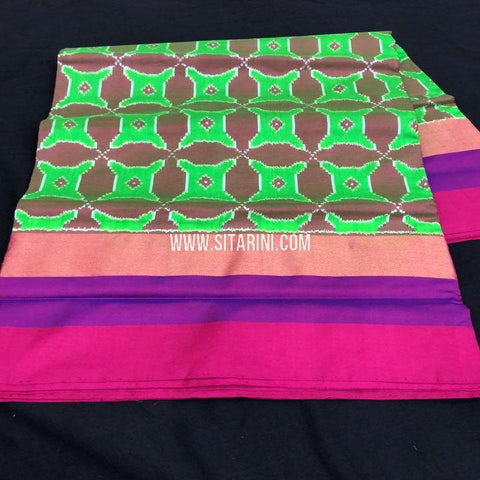 Ikkat Saree-Pattu-Multicolor-Sitarini-SITIPS740