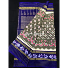 Ikkat Saree-Pattu-Multicolour-Sitarini-SITIPS108