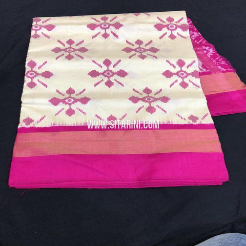 Ikkat Saree-Pattu-Off White-Sitarini-SITIPS739