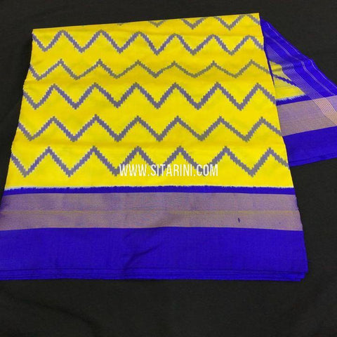 Ikkat Saree-Pattu-Yellow-Sitarini-SITIPS734