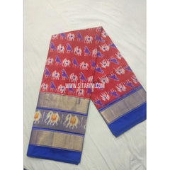 Ikkat Silk Lehanga-Maroon and Royal Blue-Sitarini-PSHIPL174