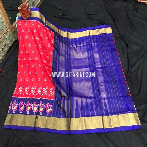 Ikkath Saree-Silk-Red-Sitarini-SITIPS867