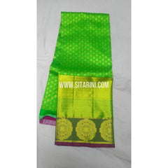 Kanchi Pattu Lehenga -Green and Pink-Sitarini-SITEDL100
