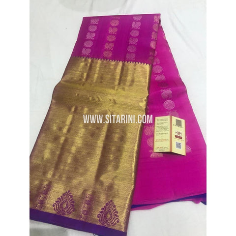 Kanchi Pattu Lehenga-Pink and Purple-Sitarini-SITEDL119