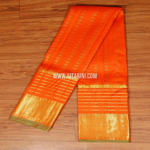 Kanchipuram Pattu Dupatta-Red-Sitarini-SITKPD134