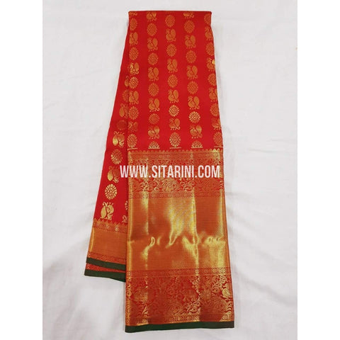 Kanchipuram Pattu Saree-Red-Sitarini-SITKSS165