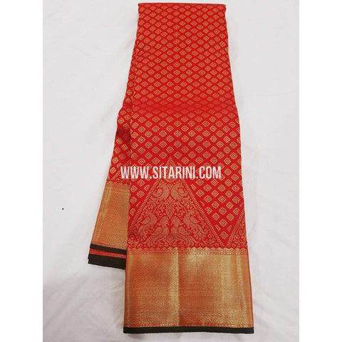 Kanchipuram Pattu Saree-Red-Sitarini-SITKSS175